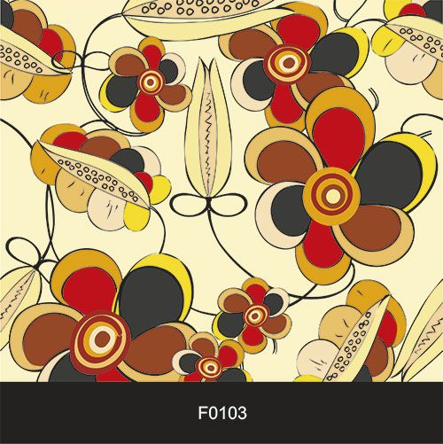 Papel de Parede Adesivo Lavável f0103 Floral Cores Fortes  - Final Decor