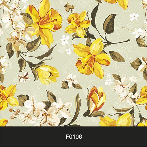 Papel de Parede Adesivo Lavável f0106 Floral Amarelas  - Final Decor