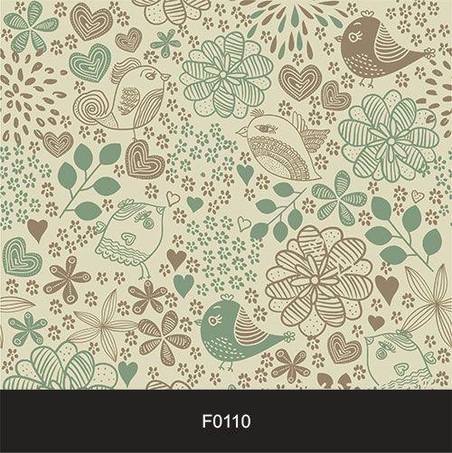 Papel de Parede Adesivo Lavável f0110 Floral Pássaro  - Final Decor
