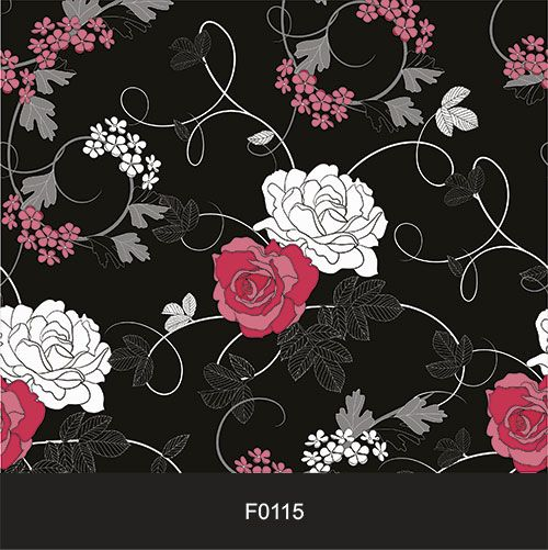 Papel de Parede Adesivo Lavável f0115  Floral Dark  - Final Decor