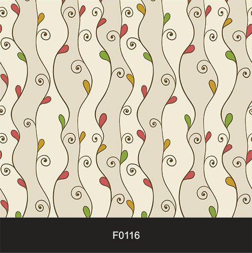 Papel de Parede Adesivo Lavável f0116 Floral Ondulações  - Final Decor