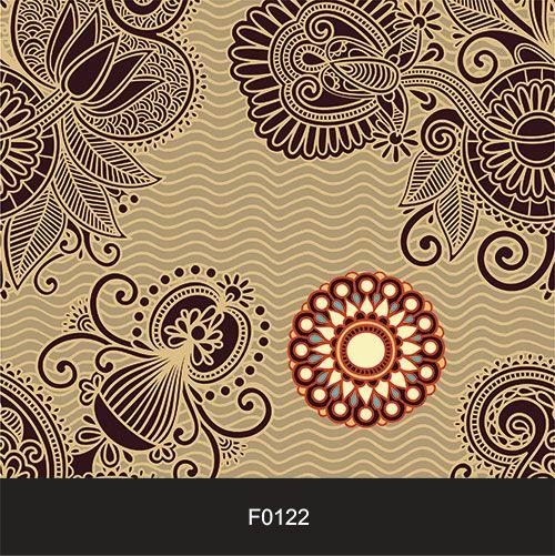 Papel de Parede Adesivo Lavável Floral Indiano F0122  - Final Decor
