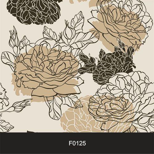 Papel de Parede Adesivo Lavável f0125 Floral Vazada Marrom  - Final Decor