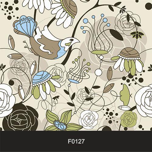 Papel de Parede Adesivo Lavável Floral Moderno Bege F0127  - Final Decor