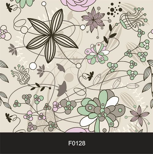 Papel de Parede Adesivo Lavável f0128 Floral Desenho Moderno  - Final Decor