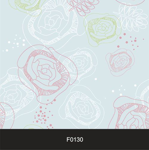 Papel de Parede Adesivo Lavável Floral Neutro Azul F0130  - Final Decor
