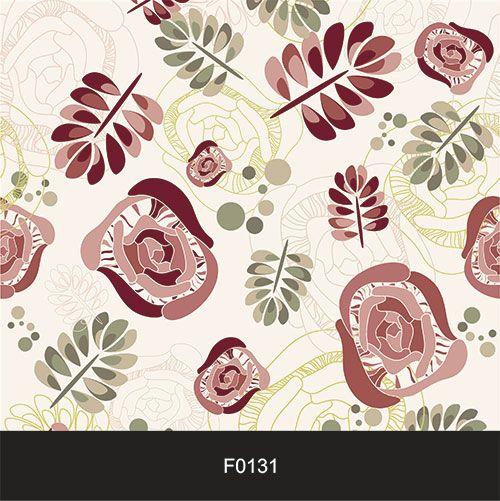 Papel de Parede Adesivo Lavável f0131 Floral Folha Abstrato  - Final Decor