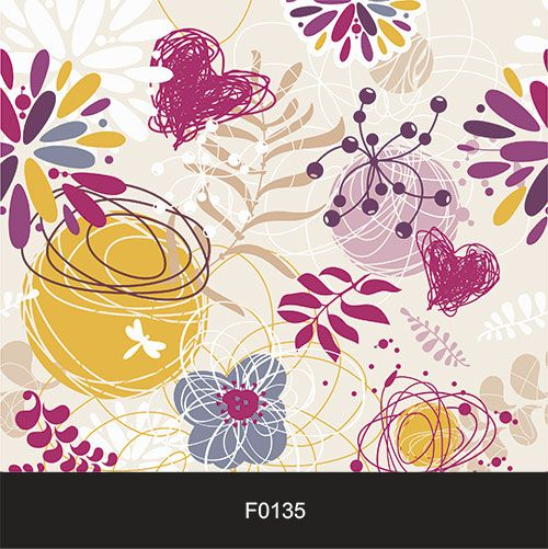 Papel de Parede Adesivo Lavável  f0135 Floral Rabisco Infantil  - Final Decor