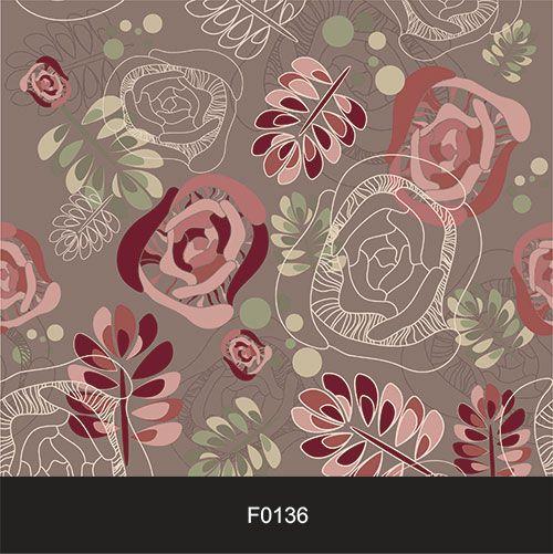 Papel de Parede Adesivo Lavável f0136 Floral Mosaico  - Final Decor