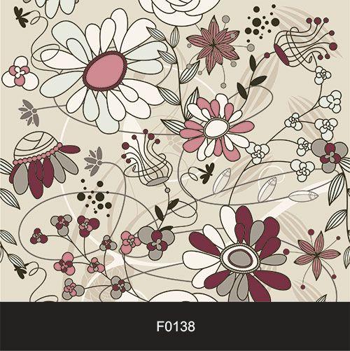 Papel de Parede Adesivo Lavável Floral Bordo F0138  - Final Decor