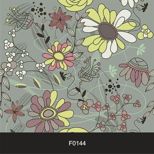Papel de Parede Adesivo Lavável f0144 Floral Estatico  - Final Decor