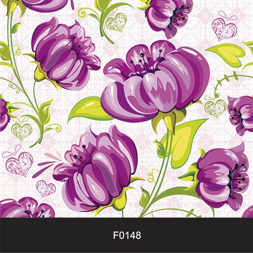 Papel de Parede Adesivo Lavável Floral Violeta F0148  - Final Decor