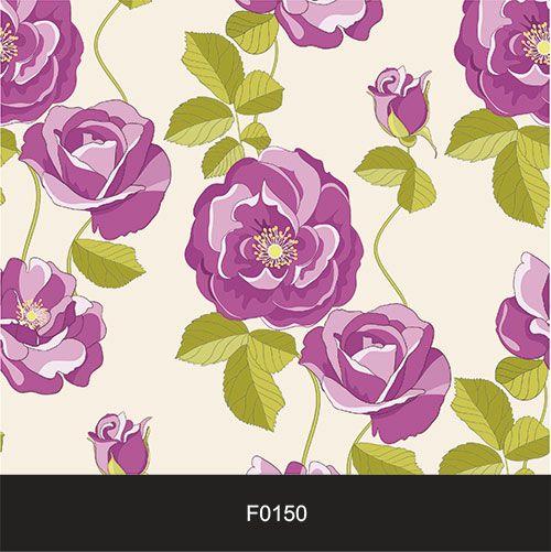 Papel de Parede Adesivo Lavável Floral Violeta Vintage F0150  - Final Decor