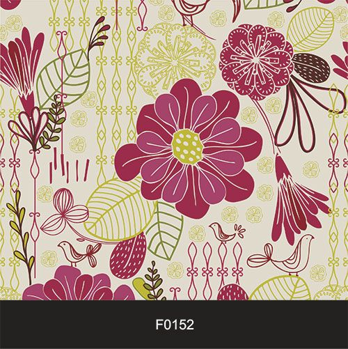 Papel de Parede Adesivo Lavável f0152 Floral Vintage  - Final Decor