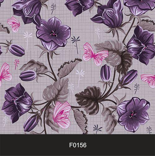 Papel de Parede Adesivo Lavável Floral Vintage Retrô Violeta F0156  - Final Decor