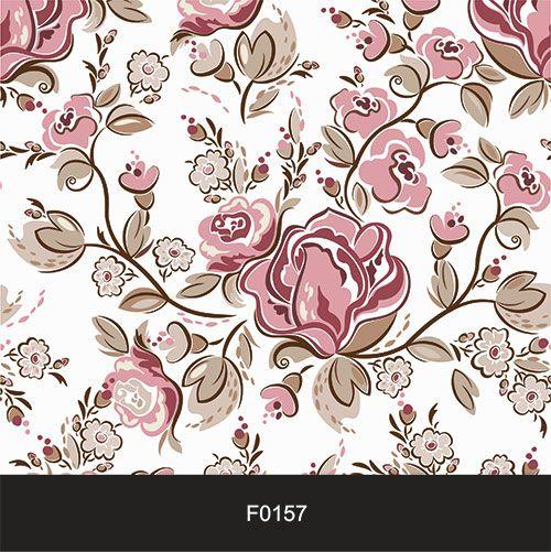 Papel de Parede Adesivo Lavável f0157 Floral Retrô Clássico  - Final Decor