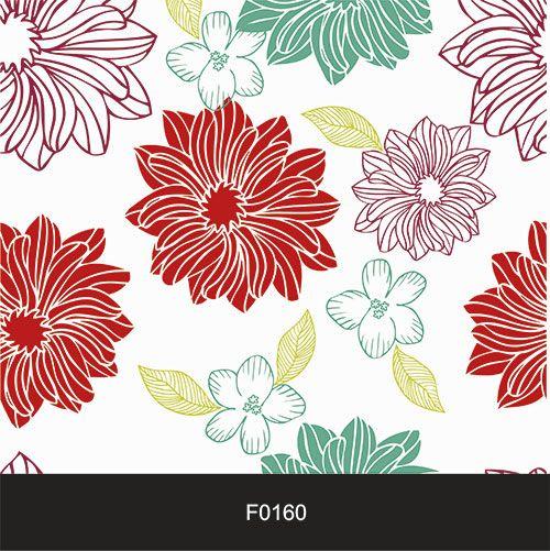 Papel de Parede Adesivo Lavável f0160 Floral Colorido  - Final Decor