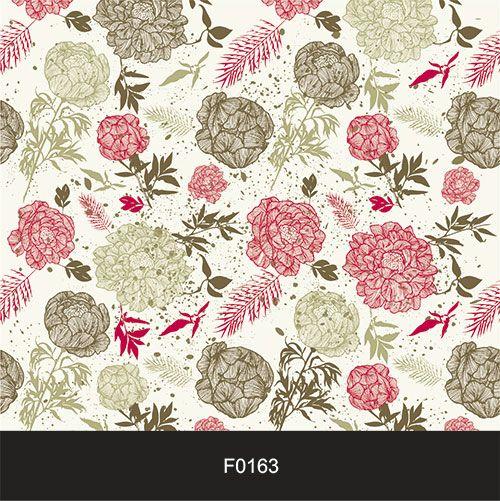 Papel de Parede Adesivo Lavável Floral Vintage Retrô F0163  - Final Decor