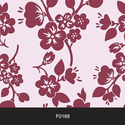Papel de Parede Adesivo Lavável f0168 Floral Magenta Bordo  - Final Decor