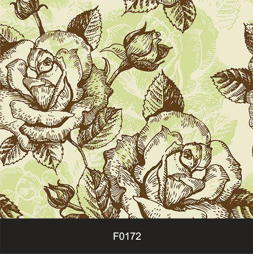 Papel de Parede Adesivo Lavável Floral Retrô Vintage F0172  - Final Decor
