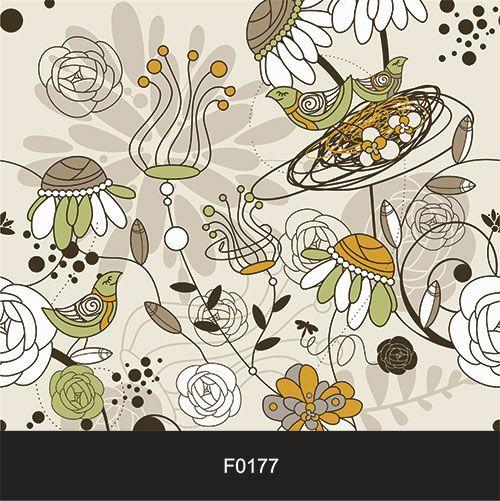 Papel de Parede Adesivo Lavável Floral Retrô F0177  - Final Decor