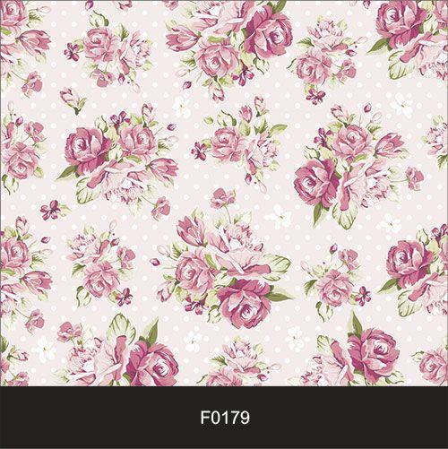 Papel de Parede Adesivo Lavável Floral Clássico Retrô Vintage Rosa F0179  - Final Decor