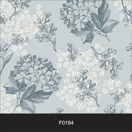 Papel de Parede Adesivo Lavável Floral Vintage Azul F0184  - Final Decor