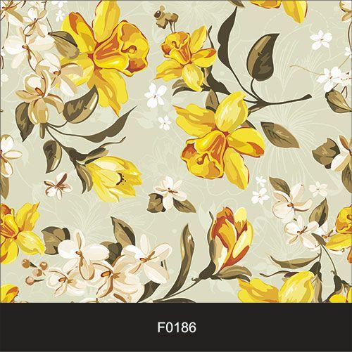 Papel de Parede Adesivo Lavável Floral Vintage Retrô F0186  - Final Decor