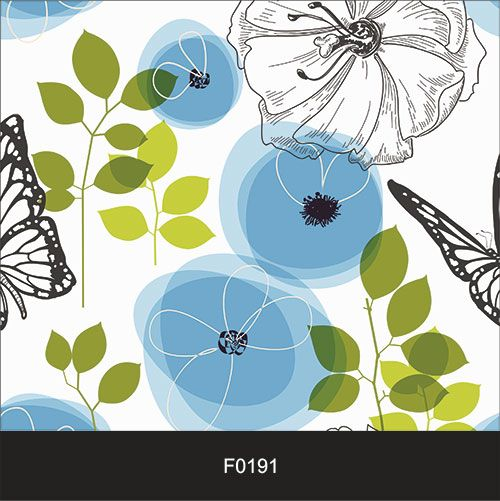 Papel de Parede Adesivo Lavável Floral Contemporâneo F0191  - Final Decor