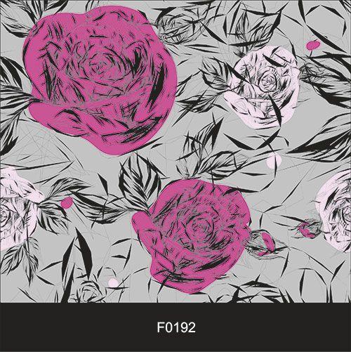 Papel de Parede Adesivo Lavável f0192 Floral Cinza Violeta  - Final Decor