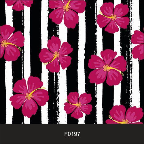 Papel de Parede Adesivo Lavável f0197 Floral Listrado Florido  - Final Decor