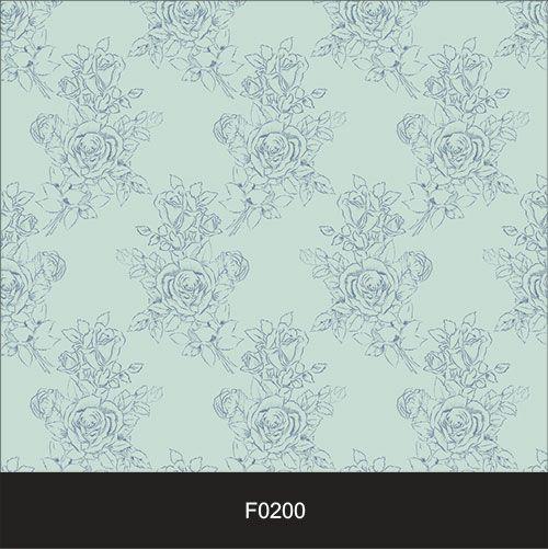 Papel de Parede Adesivo Lavável Floral Clássico Azul  - Final Decor