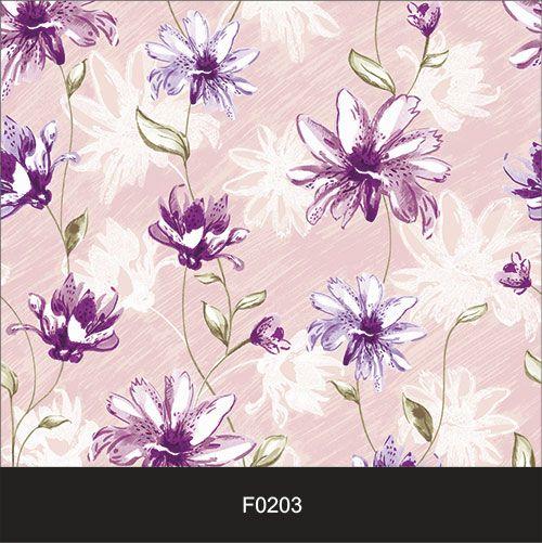 Papel de Parede Adesivo Lavável Floral Violeta Rosada F0203  - Final Decor