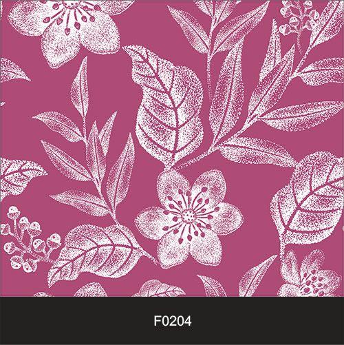Papel de Parede Adesivo Lavável f0204 Floral Magenta Branca  - Final Decor