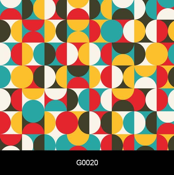 Papel de Parede Auto Adesivo G0020 Geométrico Círculos  - Final Decor