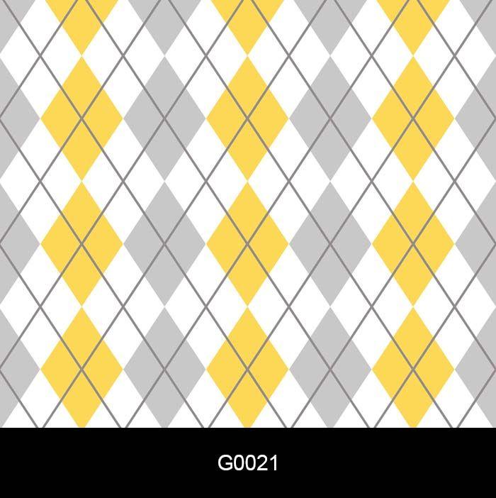Papel de Parede Auto Adesivo G0021 Losangolo Cinza e Amarelo  - Final Decor