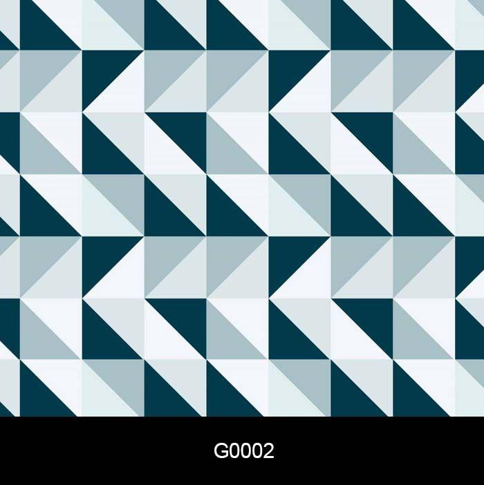 Papel de Parede Auto Adesivo Geométrico G0002 Triângulo tons de azul  - Final Decor