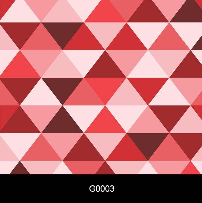 Papel de Parede Auto Adesivo Geométrico Triângulo Vermelho G0003  - Final Decor