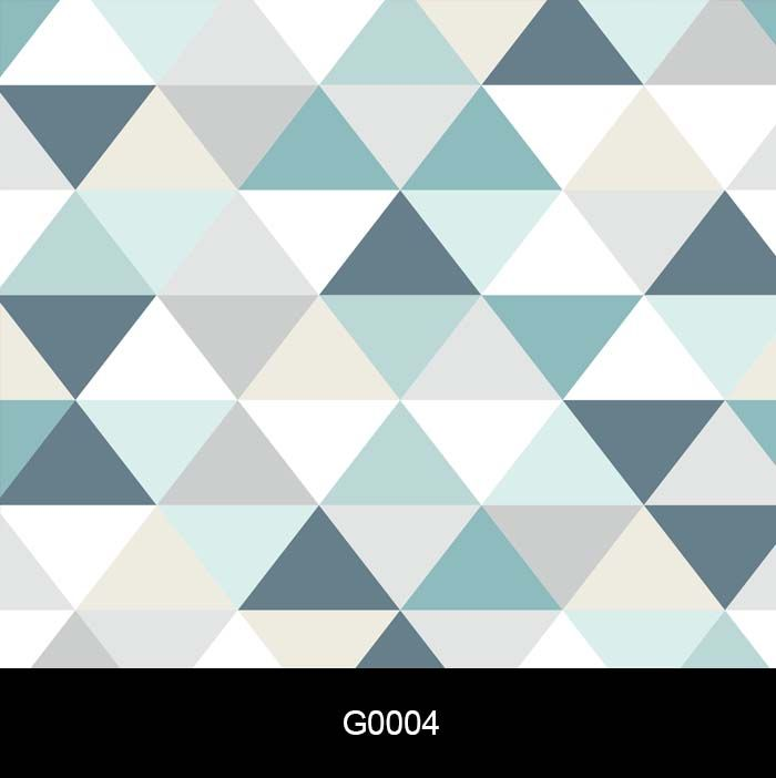 Papel de Parede Auto Adesivo Geométrico G0004 Triângulo Tons de Azul e Cinza  - Final Decor