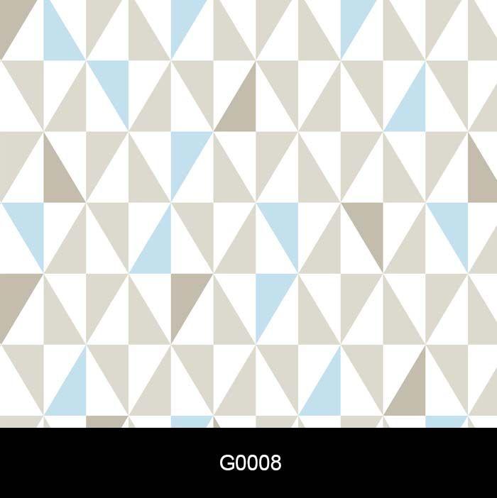 Papel de Parede Auto Adesivo Geométrico G0008  Losangolo   Cinza e Azul  - Final Decor