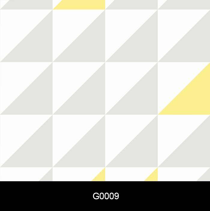 Papel de Parede Auto Adesivo Geométrico G0009 Quadrados Cinza, Branco Amarelo  - Final Decor