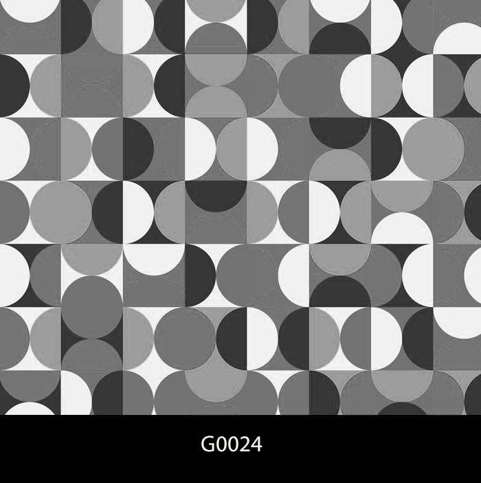 Papel de Parede Auto Adesivo Geométrico G0024 Círculos preto e branco  - Final Decor