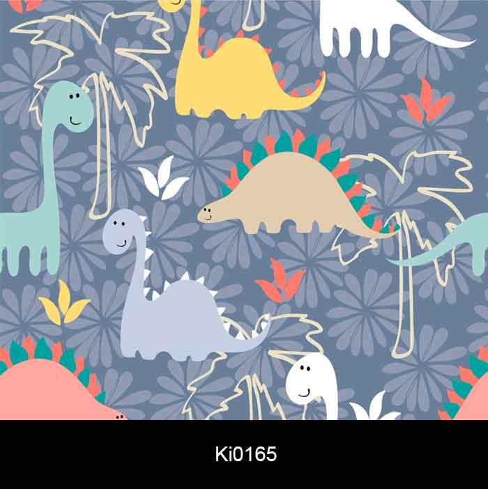 Papel de Parede Auto Adesivo Infantil Dinossauros KI0165  - Final Decor