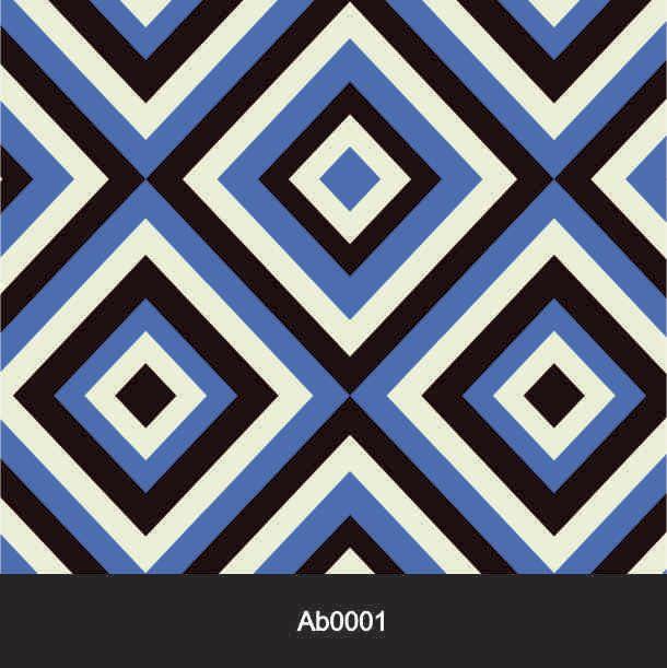 Papel de Parede Auto Adesivo Lavável Abstrato Retrô Azul AB0001   - Final Decor