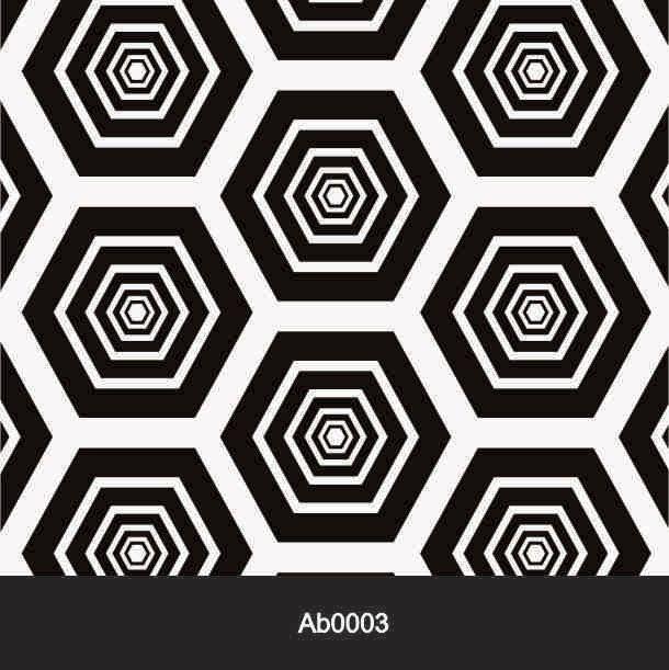 Papel de Parede Auto Adesivo Lavável Abstrato ab0003 Retrô Colmeia  - Final Decor
