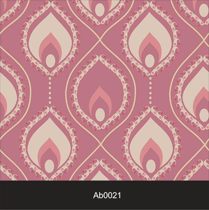 Papel de Parede Auto Adesivo Lavável Abstrato Hippie Vintage Rosa AB0021  - Final Decor