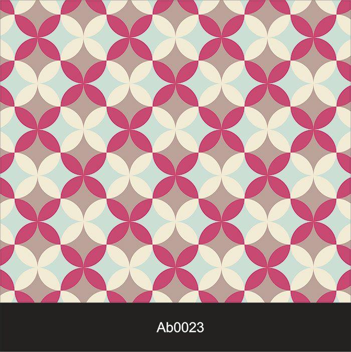 Papel de Parede Auto Adesivo Lavável Abstrato Retrô Rosa AB0023  - Final Decor