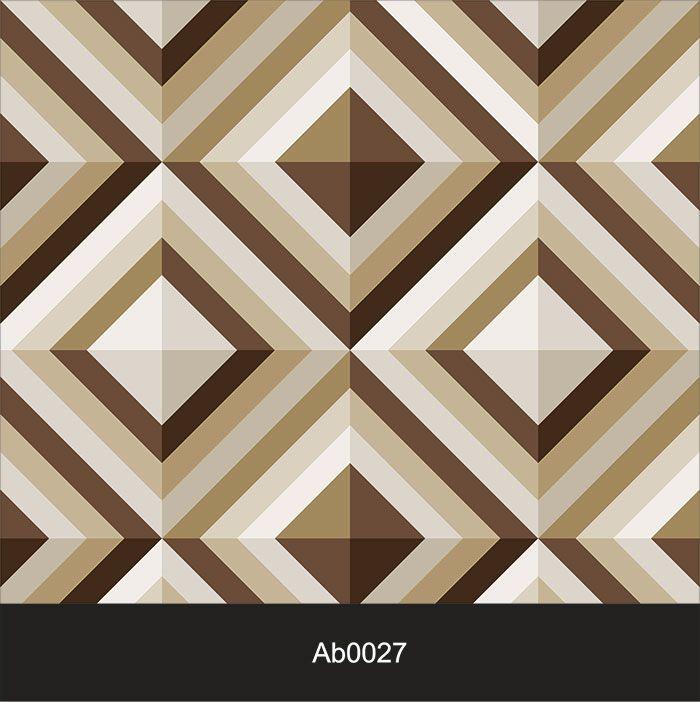 Papel de Parede Auto Adesivo Lavável Abstrato Geométrico Marrom AB0027  - Final Decor