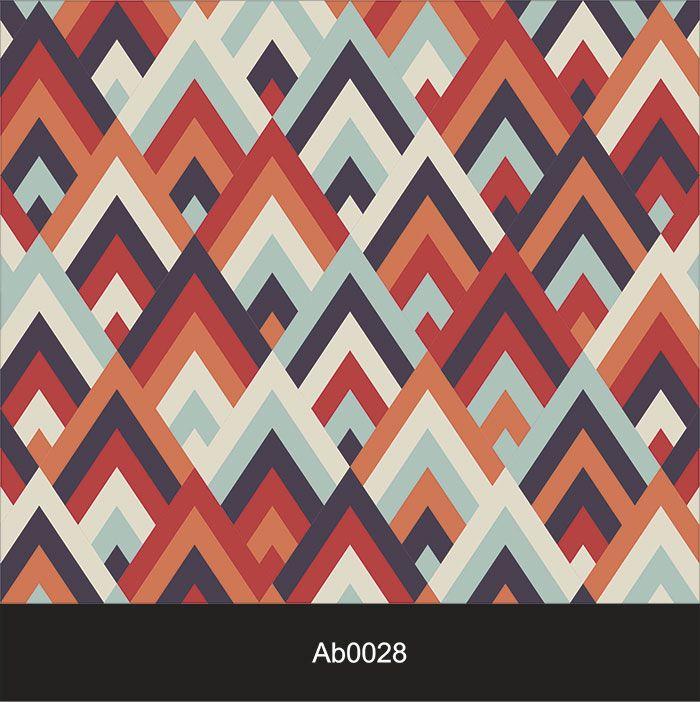 Papel de Parede Auto Adesivo Lavável Abstrato ab0028 Geométrico Colorido  - Final Decor