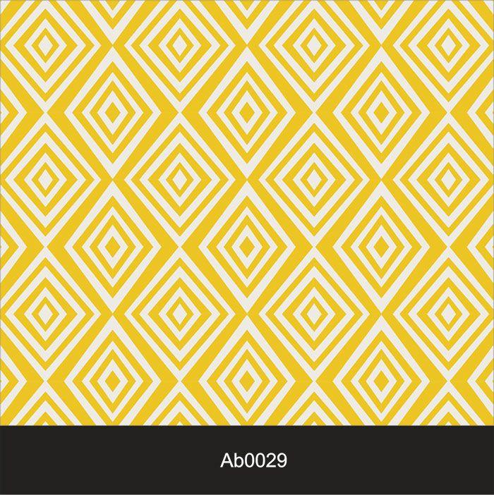 Papel de Parede Auto Adesivo Lavável Abstrato ab0029 Retrô Vintage Amarelo  - Final Decor